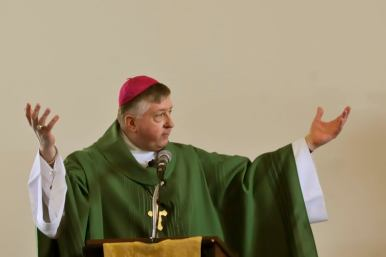 Bishop Rozansky at St. Joseph's on World Marriage Day