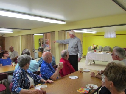 Father Thanks Everyone for Coming to Celebrate the Re-Opening of the Parish Hall and Thanked Everyone for their Hard Work.