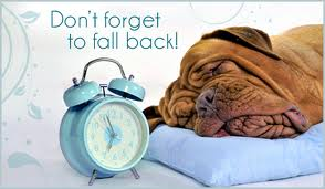 Please remember to set your clocks back one hour before turning in this Saturday evening!